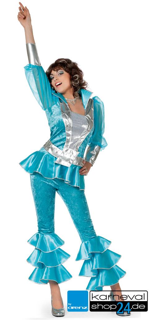 Mama Mia Dancing Queen Kostum Fur Damen Turkis Karnevalshop24 De